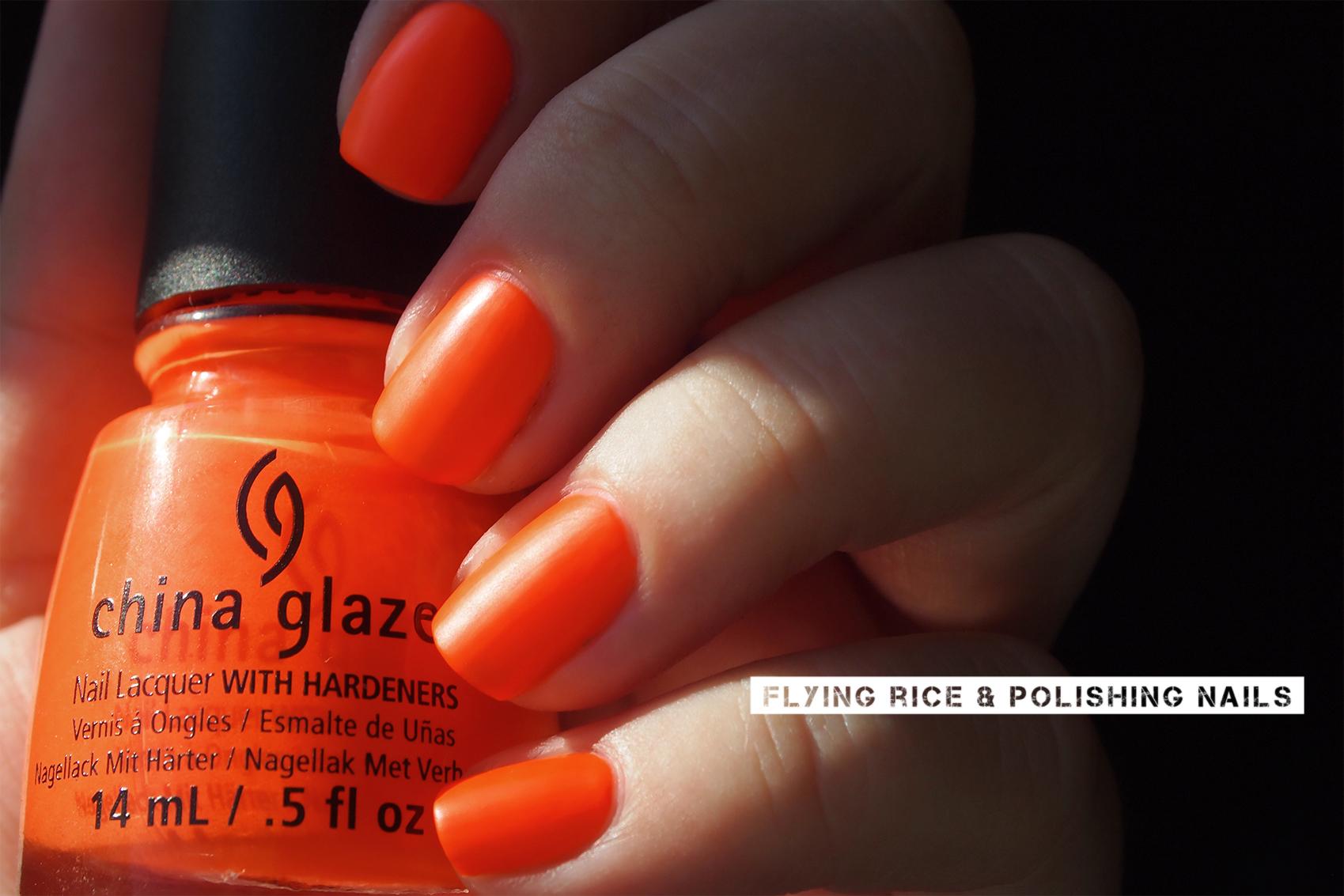 China Glaze | flying rice & polishing nails
