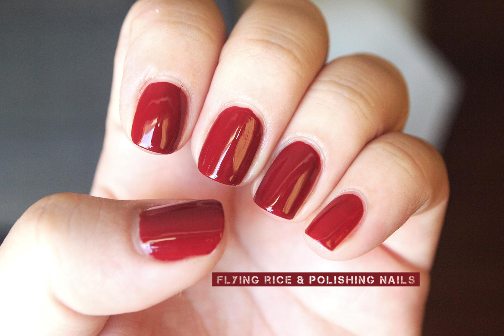scented nail polish | flying rice & polishing nails