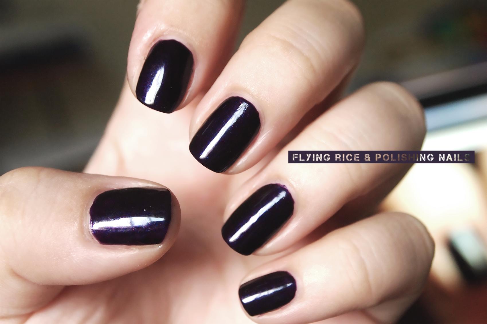 deep purple | flying rice & polishing nails
